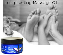 Man Using Flavored Body Massage Oil For Foot Massage
